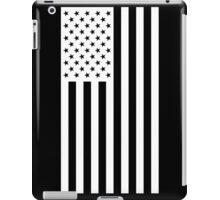 US Flag - Black & White iPad Case/Skin