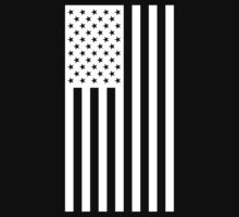 US Flag - Black & White by ianscott76