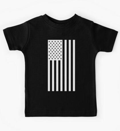 US Flag - Black & White Kids Tee