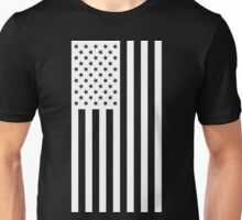US Flag - Black & White Unisex T-Shirt