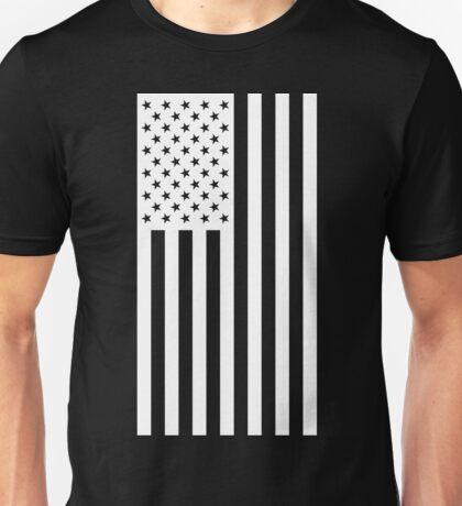 US Flag - Black & White Unisex T-Shirt