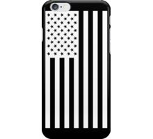 US Flag - Black & White iPhone Case/Skin