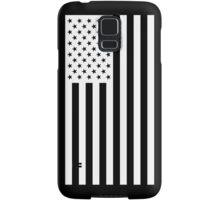 US Flag - Black & White Samsung Galaxy Case/Skin