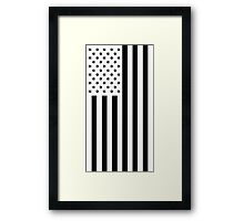 US Flag - Black & White Framed Print