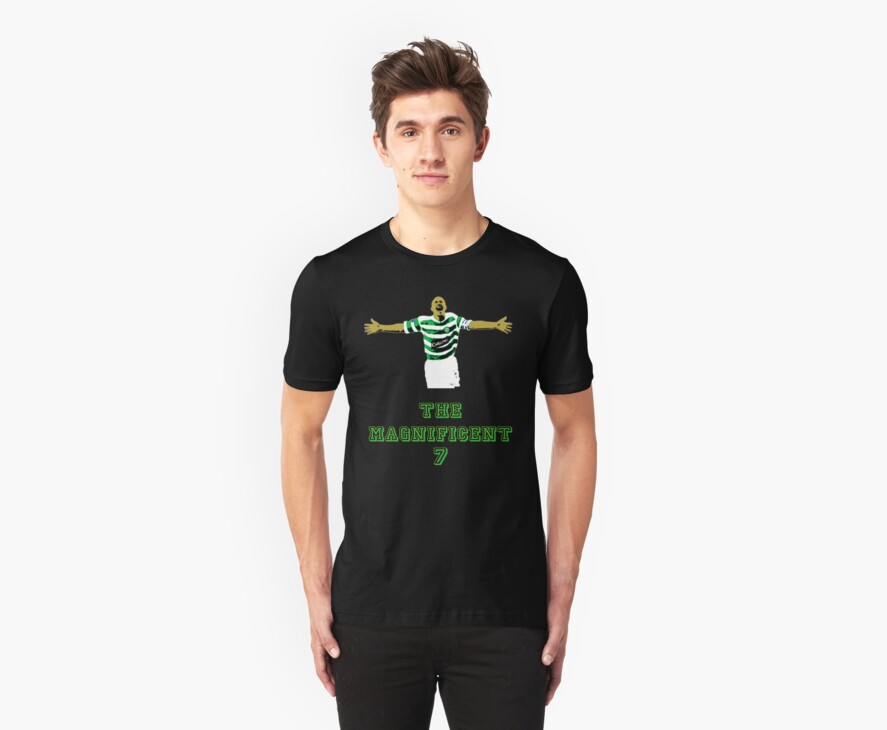 Henrik Larsson Pop Art Tshirt (Celtic) by Vagelis Georgariou