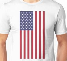 US Flag - White Unisex T-Shirt