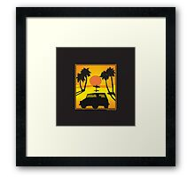 VW 181 Thing Kuebelwagen Trekker Acapulco Sunset Framed Print