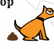 Dog poop by state - California Sticker