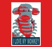 i love my monkey Unisex T-Shirt