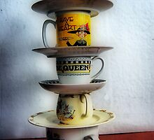 Holy Towering Teacups Batman by Diane Peterson