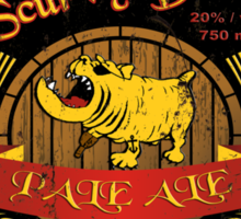 Scurvy Dog Pale Ale Weathered Sign Sticker