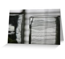 Studies in Glass ...shades of grey .. Greeting Card
