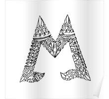 Patterned Letter M Poster