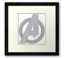 Celtic Avengers A logo, Black Outline, no Fill Framed Print