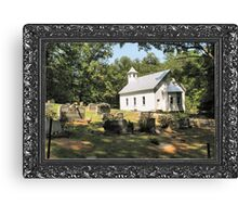"""Cades Cove Missionary Baptist Church"" ... with a canvas and framed presentation for prints and products Canvas Print"