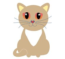 One and Only One Tan Kitty by Jean Gregory  Evans