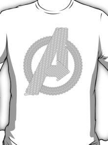 Celtic Avengers A logo, Black Outline, no Fill T-Shirt