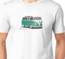 VW Bus T2 Samba Green Wht Unisex T-Shirt