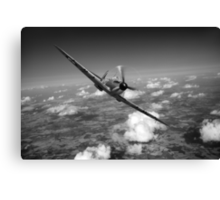 Battle of Britain Spitfire black and white version Canvas Print