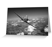 Battle of Britain Spitfire black and white version Greeting Card
