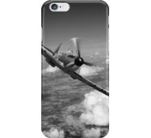 Battle of Britain Spitfire black and white version iPhone Case/Skin