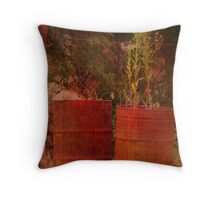 Rusty Barrels Throw Pillow