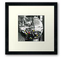 Bubble Gum Machine Framed Print