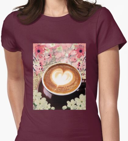 Coffee and Flowers Womens Fitted T-Shirt