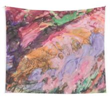 Acrylic Purple and Orange Wall Tapestry