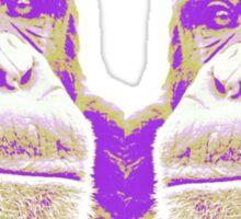 The kissing monkeys Sticker