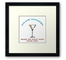 Island Slackers Happy Hour Framed Print