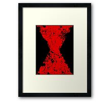 Faded Black Widow Symbol Framed Print