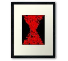 Faded Black Widow Symbol Framed Print