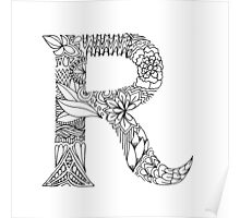 Patterned Letter R Poster