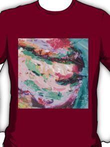 Acrylic Pink and Teal T-Shirt