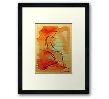 Sitting Man Framed Print