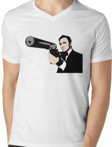 James Bond Pop Art Style Mens V-Neck T-Shirt