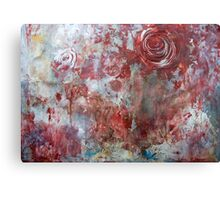 When Roses Bleed Canvas Print
