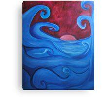Blown Ocean Waves Canvas Print