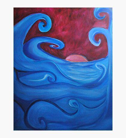 Blown Ocean Waves Photographic Print