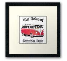 Old School Samba Bus Framed Print