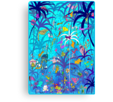 One Night in Jungle Canvas Print