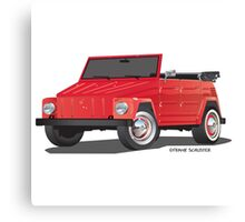 VW Volkswagen Thing Convertible Red Canvas Print
