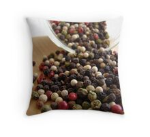 Peppercorns Throw Pillow
