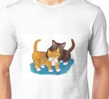 Tussle between Two Kittens Unisex T-Shirt