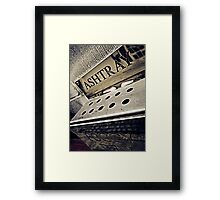 Foggy Dew Ashtray Framed Print