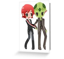 Mass Effect - Shepard and Thane [Commission] Greeting Card