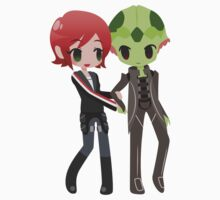 Mass Effect - Shepard and Thane [Commission] Kids Clothes