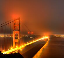 Golden Gate Bridge in the Haze by Paul J. Owen