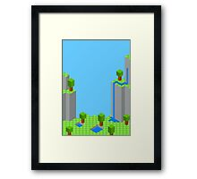 Retro Landscape Framed Print
